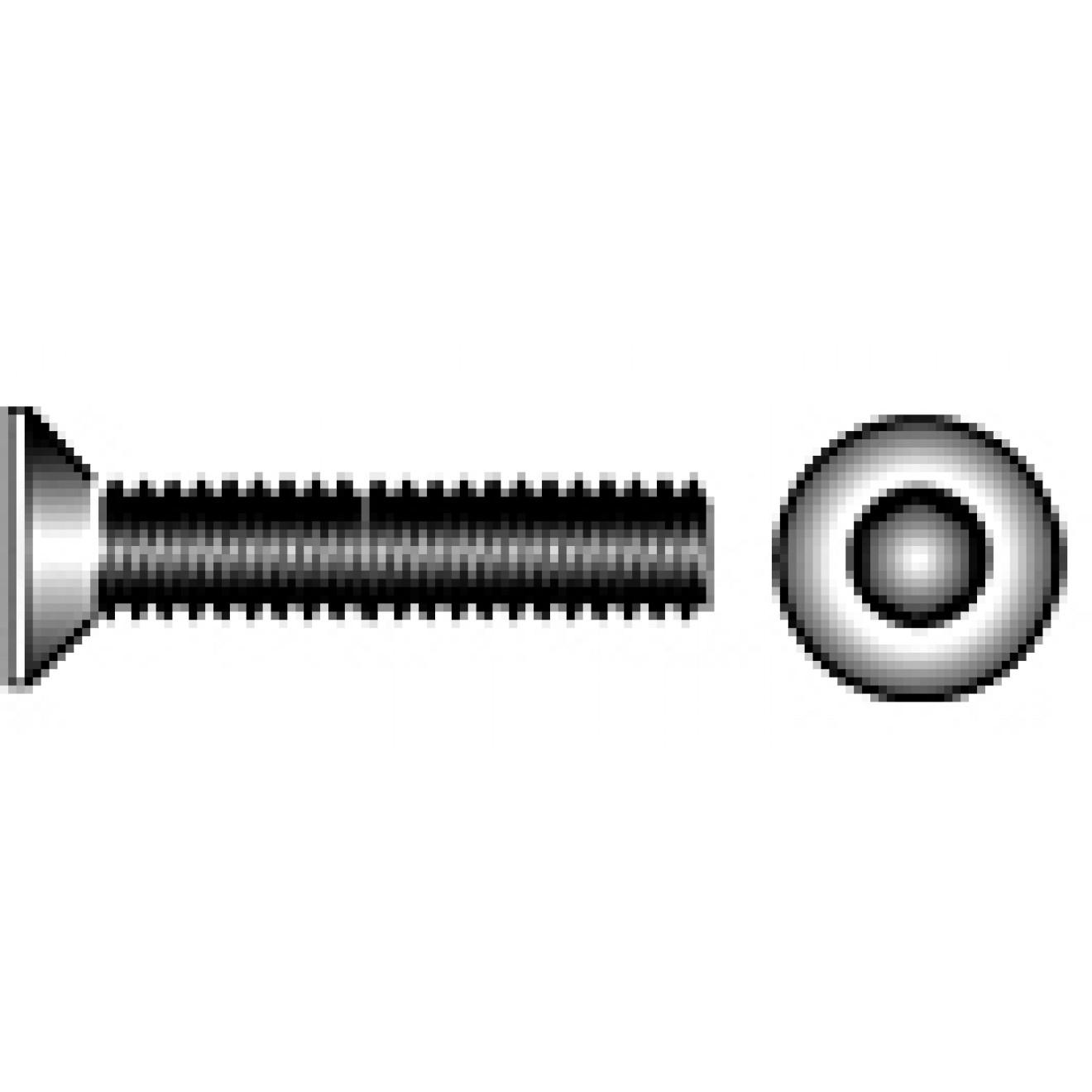 Senkschrauben SC-Normteile/® - M3x25 - SC7991 ISK Werkstoff: Edelstahl A2 V2A Vollgewinde Senkkopfschrauben mit Innensechskant 50 St/ück - DIN 7991//ISO 10642