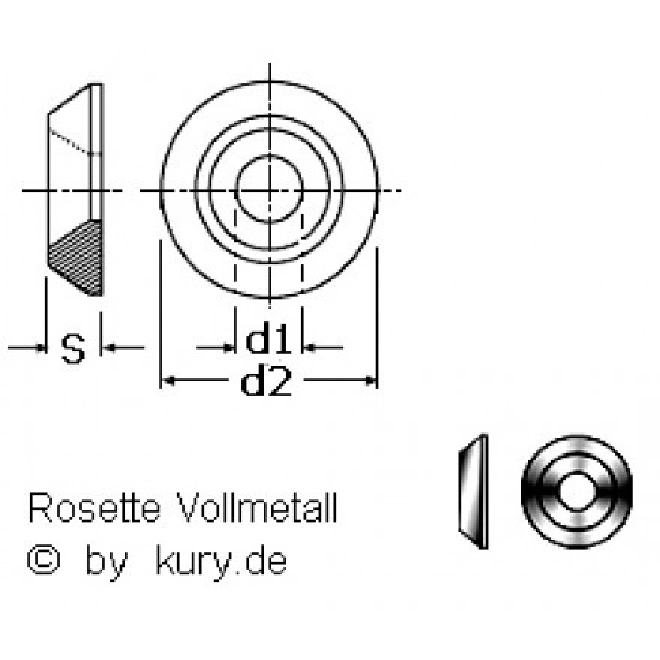 M 8  Rosetten für Senkschrauben Edelstahl 10 Stk